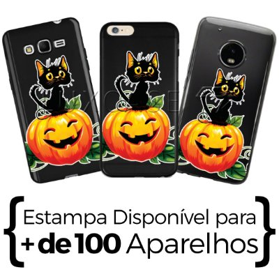 Capinha Cat Halloween - Black