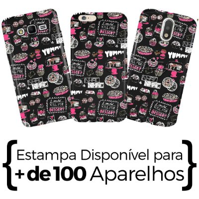 Capinha - Yummy Pattern - Black