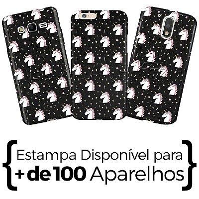 Capinha - Pattern Unicórnio Star - Black