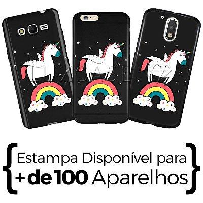Capinha - Unicórnio Rainbow - Black