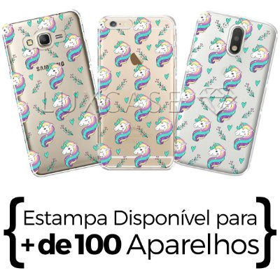 Capinha - Pattern Unicórnio Love