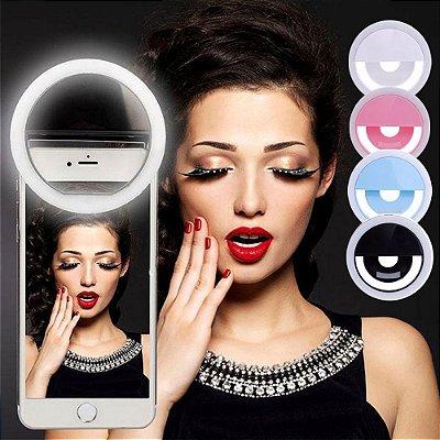 Flash com Clipe Anel para Selfie Luz de Led