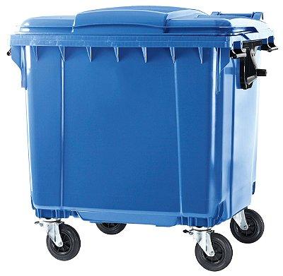 Contentor de Lixo de 1100 Litros C/ Pedal - Marca Power Bear