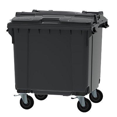 Contentor de Lixo de 1100 Litros Tampa Bipartida (SPLIT)