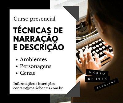 Curso presencial (Manaus): técnicas de narração e descrição