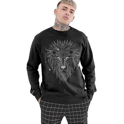 Moletom Fechado Chess Clothing Lion Tattoo