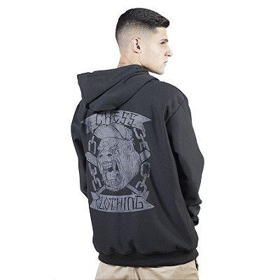 Moletom Canguru Chess Clothing Estampa Costas Gorila