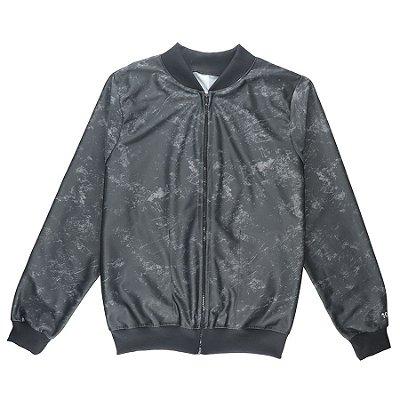 Jaqueta Bomber Chess Clothing Stone Cinza