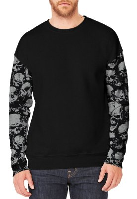 Moletom - Skulls Sleeves
