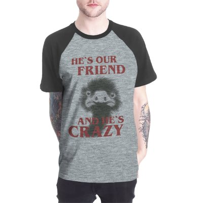 Raglan manga curta - He's our friend - Site dos Menes