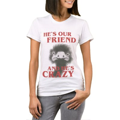 Camiseta Feminina - He's our friend - Site dos Menes