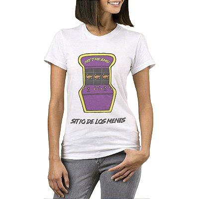 Camiseta Feminina - Máquina de fliperama - Site dos Menes