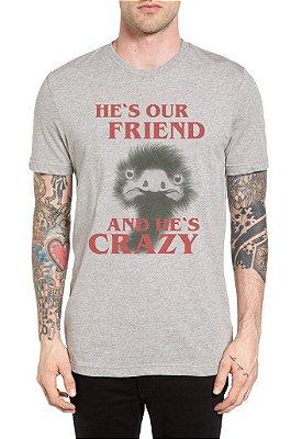 Camiseta - He's our friend - Site dos Menes