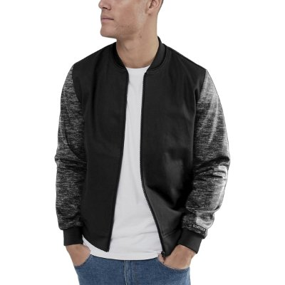 Jaqueta Bomber Chess Clothing Manga Mescla