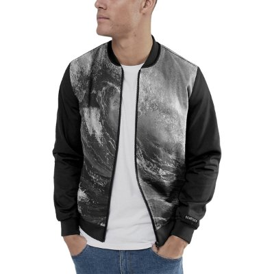 Jaqueta Bomber Chess Clothing Big Wave Preto