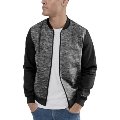 Jaqueta Bomber Chess Clothing Mescla Cinza