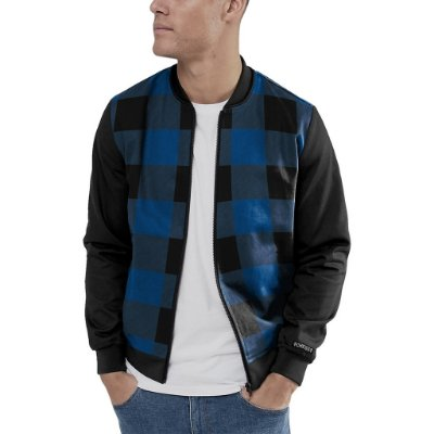 Jaqueta Bomber Chess Clothing Xadrez Azul