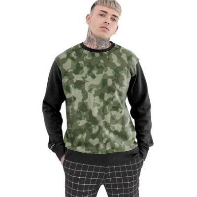 Moletom Careca Chess Clothing Camuflado Verde
