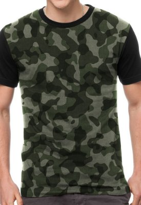Camiseta Chess Clothing Camuflada Verde