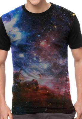 Camiseta Chess Clothing Galaxy Roxo