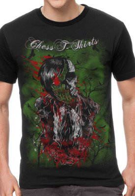 Camiseta Chess Clothing Zombie Preta