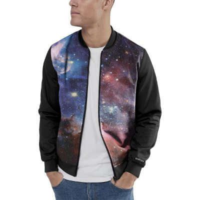 Jaqueta Bomber Chess Clothing Estampada Galáxia