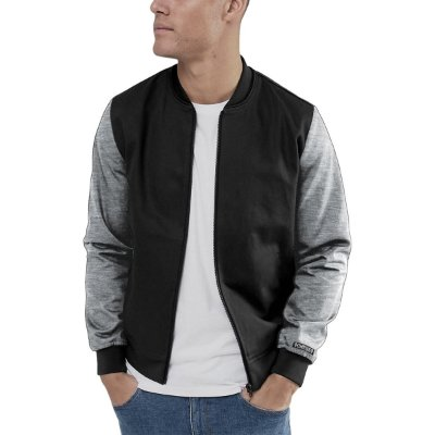Jaqueta Bomber Chess Clothing Manga Cinza