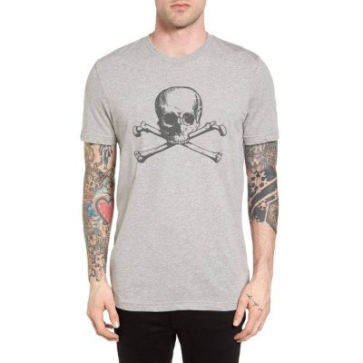 Camiseta Chess Clothing Skull Cinza
