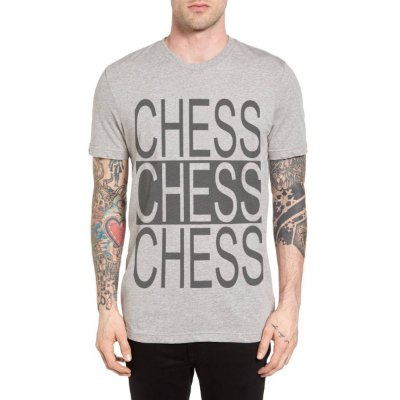 Camiseta Chess Clothing Triple Cinza