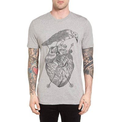 Camiseta Chess Clothing Heart Cinza