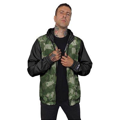 Jaqueta Corta Vento Chess Clothing Camuflado Verde