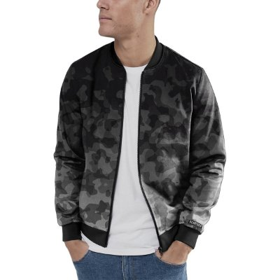 Jaqueta Bomber Chess Clothing Camuflado Cinza