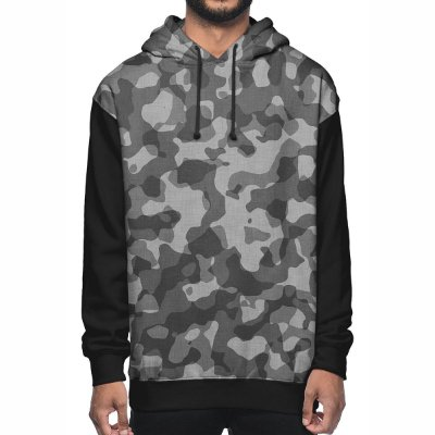 Moletom Chess Clothing Camuflado Cinza