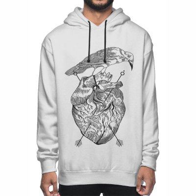 Moletom Chess Clothing Heart Branco