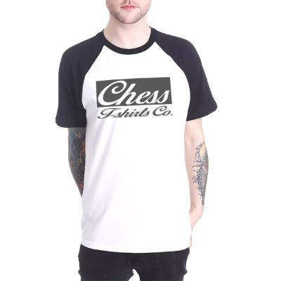 Raglan Chess Clothing Logo Branco