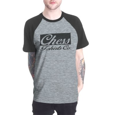 Raglan Chess Clothing Logo Cinza