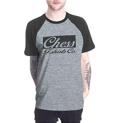 Raglan Chess Clothing Logo Cinza