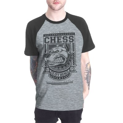 Raglan Chess Clothing Dog Cinza
