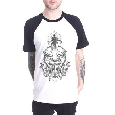 Raglan Chess Clothing Tiger Branco