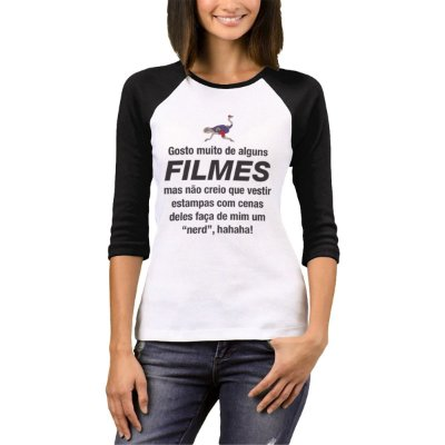 Raglan Manga 3/4 Chess Clothing SDM Filmes Branco