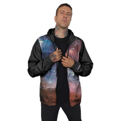Jaqueta Corta Vento Chess Clothing Galaxy