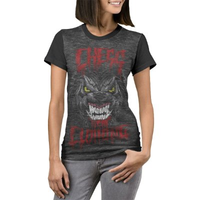 Camiseta Chess Clothing Blood Cinza