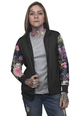 Jaqueta Bomber Chess Clothing Floral