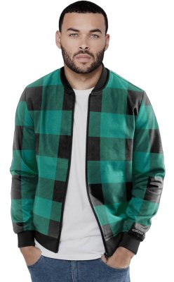 Jaqueta Bomber Chess Clothing Xadrez Verde Água