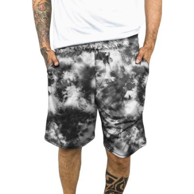 Bermuda Chess Clothing Dri-Fit Tie-dye Cinza