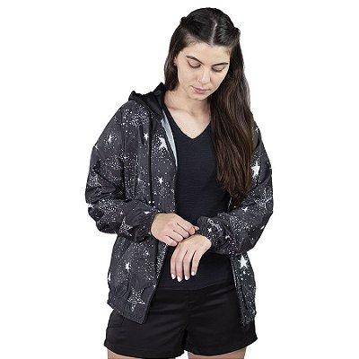 Jaqueta Corta Vento Chess Clothing Feminina Zodiac Galaxy