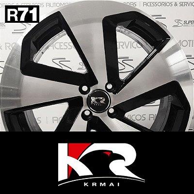 Jogo Rodas KR R71 Aro 18 Preto Diamantado – VW Golf Alemão
