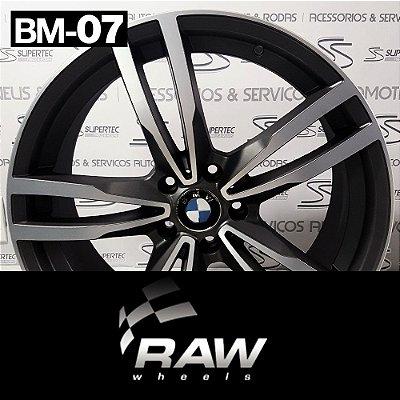 Jogo Rodas RAW BM-07 Aro 20 Grafite Diamantado Fosco – BMW M4 (2 Talas)