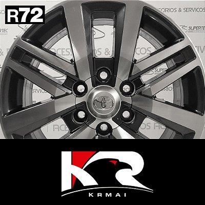 Jogo Rodas KR R72 Aro 18 Grafite Diamantado – Toyota Hilux