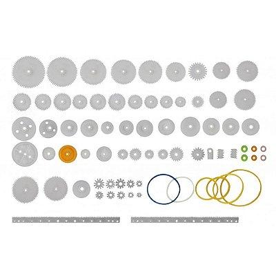 Kit Engrenagens Plásticas com Correias - 75pcs